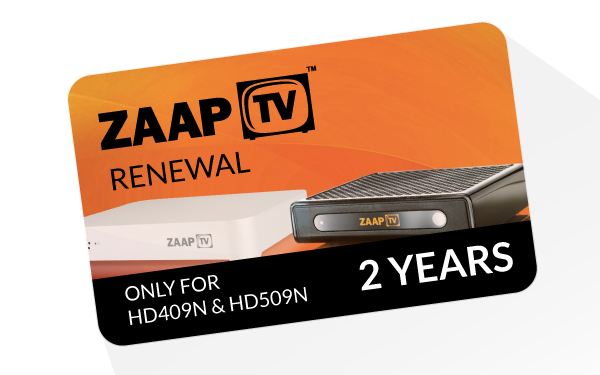 24 Months ZAAPTV Renewal Code Full Package