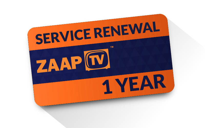 12 Months ZAAPTV Renewal PIN Full Package